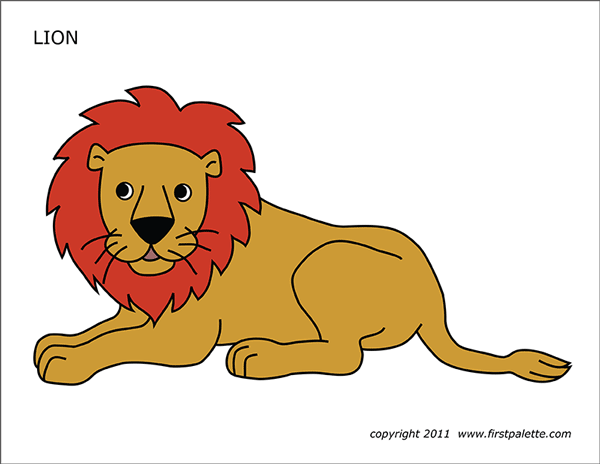 image relating to Printable Lion Pictures referred to as Lion Absolutely free Printable Templates Coloring Internet pages