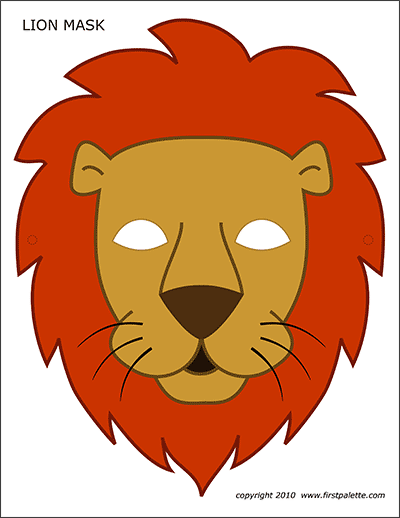 photograph about Monkey Mask Printable named Lion Mask Cost-free Printable Templates Coloring Web pages