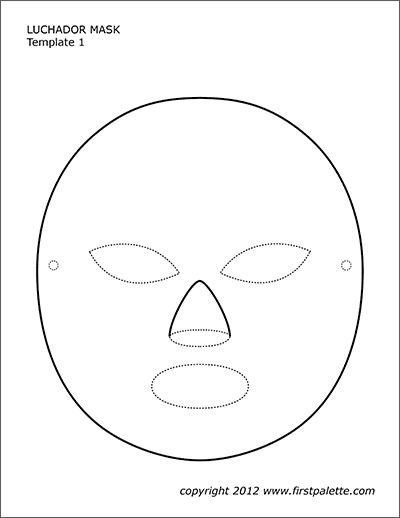 photograph regarding Printable Mask Templates named Luchador Mask Templates Absolutely free Printable Templates
