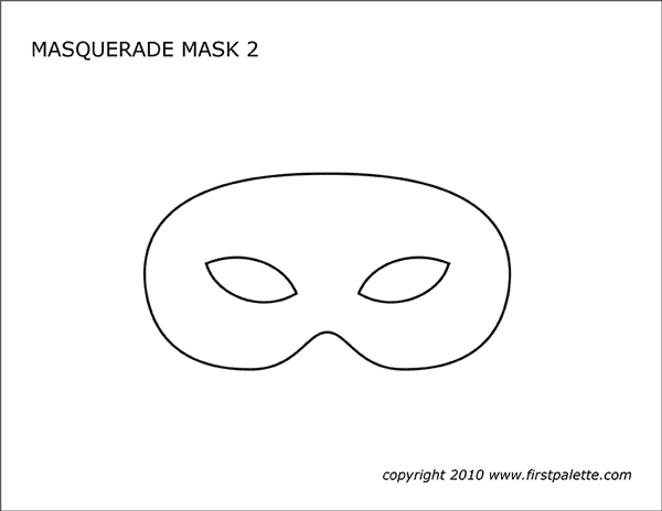 picture about Printable Masquerade Masks Templates named Masquerade and Mardi Gras Mask Templates No cost Printable