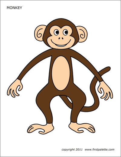 Printable Colored Monkey