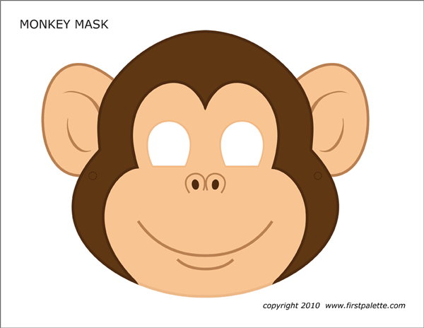 Superb image for monkey mask printable