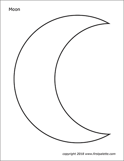 Printable Large Moon Coloring Page