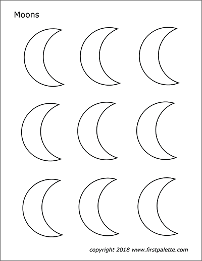 Printable Moons - Set 3