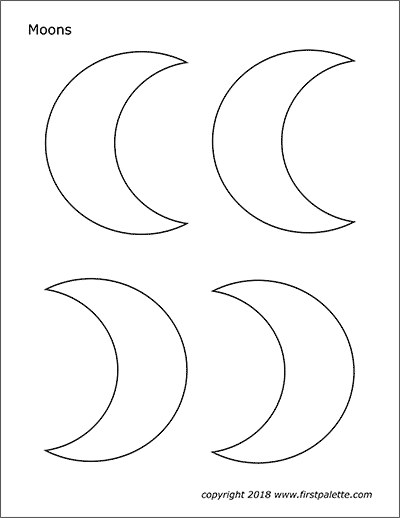 Printable Moons - Set 2