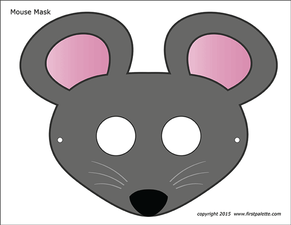 Mouse Masks Free Printable Templates