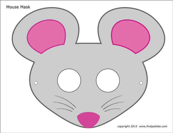 graphic relating to Printable Face Masks titled Mouse Masks Absolutely free Printable Templates Coloring Webpages