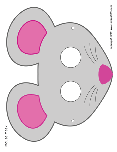 Printable Mouse Masks