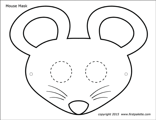 graphic relating to Printable Mask identified as Mouse Masks No cost Printable Templates Coloring Internet pages