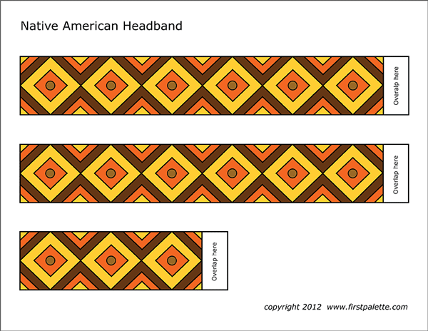 photograph about Native American Designs Printable known as Indigenous American Headband Templates Cost-free Printable