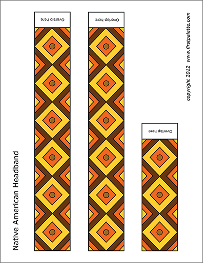 Printable Colored Native American Headband