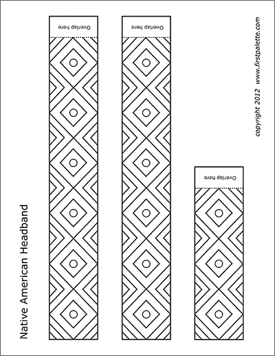 Printable Native American Headband Coloring Page