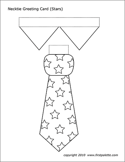 Printable Necktie with Stars Template