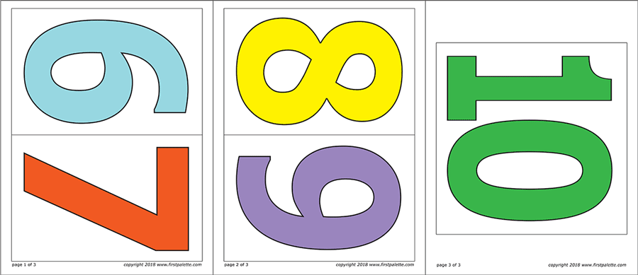picture relating to Large Printable Numbers 1-10 referred to as Figures Cost-free Printable Templates Coloring Web pages