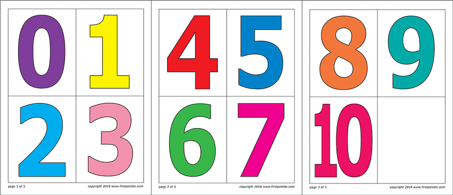 image relating to Printable Numbers named Figures Absolutely free Printable Templates Coloring Webpages