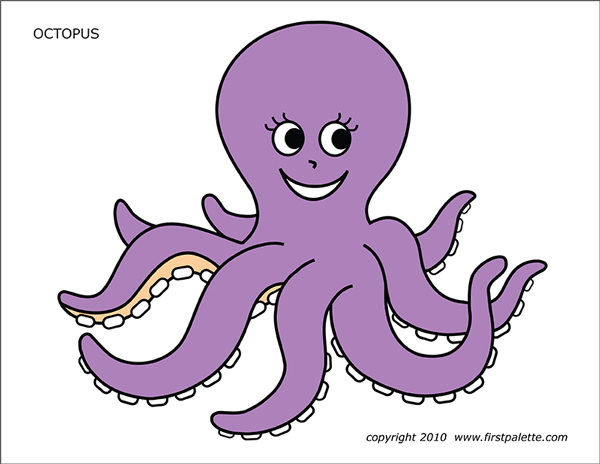 Printable Colored Octopus