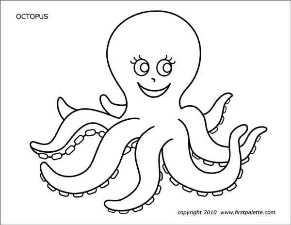 Printable Octopus Coloring Page