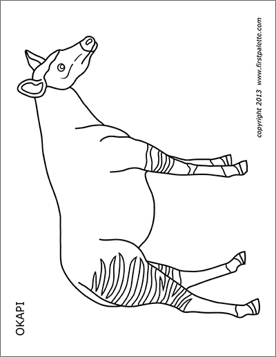 Printable Okapi