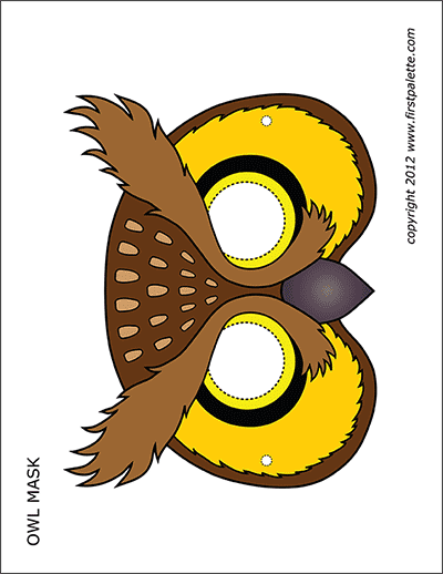 Printable Owl Mask