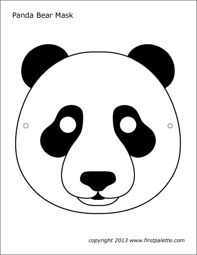 photograph about Printable Face identified as Panda Mask Totally free Printable Templates Coloring Internet pages