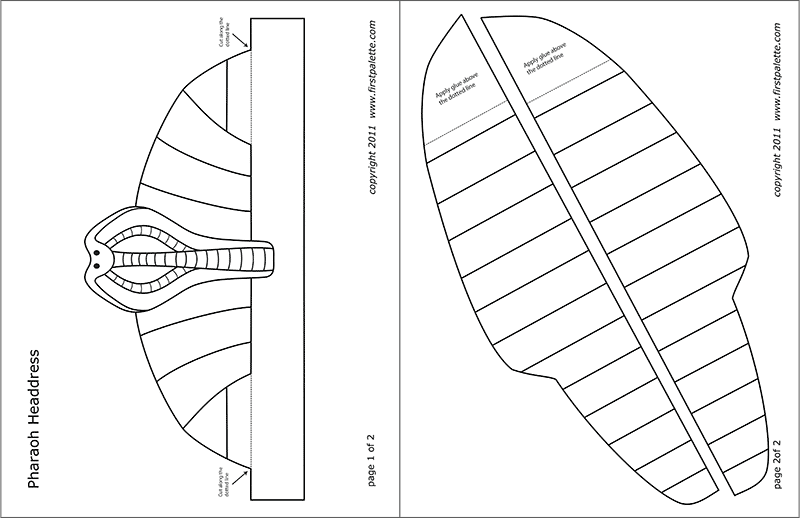 Printable Pharaoh Headdress Template