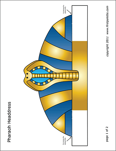 Printable Pharaoh Headdress