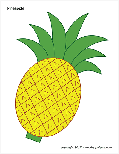 It's just a photo of Pineapple Printable for diy
