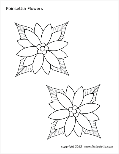 Printable Poinsettia Flowers