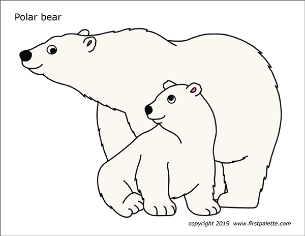 photo about Bear Template Printable named Polar Undergo Free of charge Printable Templates Coloring Web pages