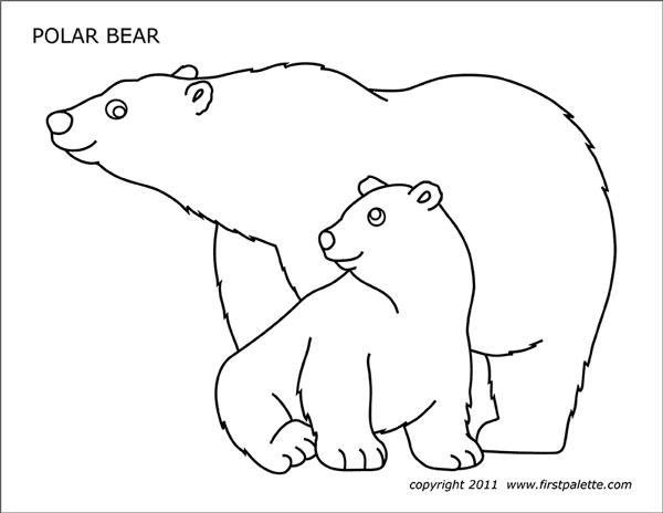 Polar Bear Free Printable Templates