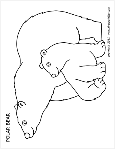 Printable Polar Bear
