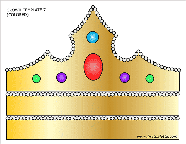 photograph relating to Princess Crowns Printable titled Prince and Princess Crown Templates Free of charge Printable
