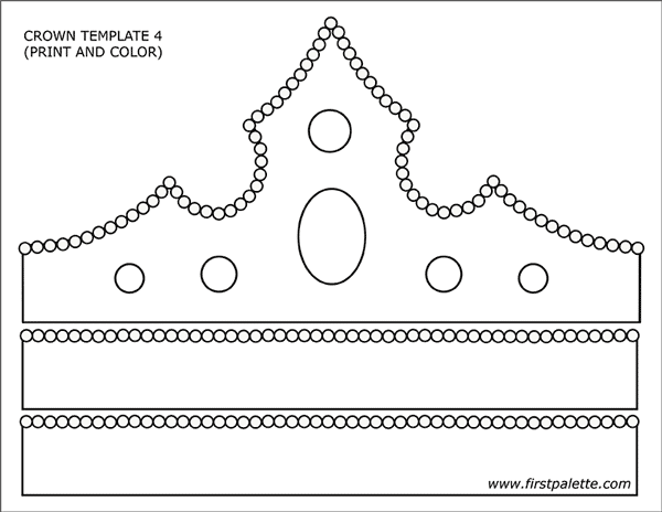 graphic relating to Printable Princess Crown known as Prince and Princess Crown Templates Absolutely free Printable