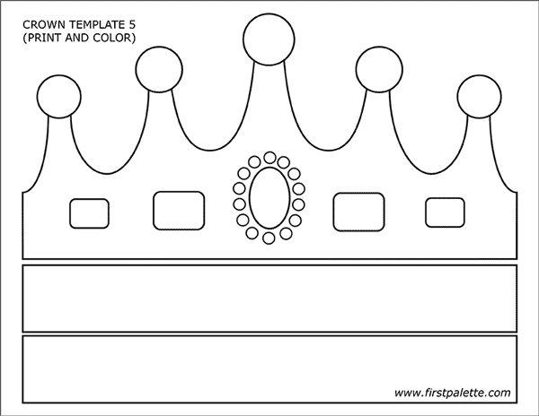 graphic relating to Crown Stencil Printable called Prince and Princess Crown Templates Free of charge Printable
