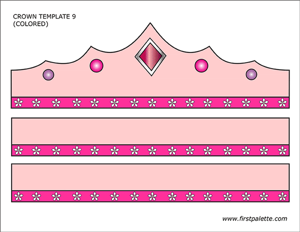 photograph about Printable Princess Crown identified as Prince and Princess Crown Templates Free of charge Printable