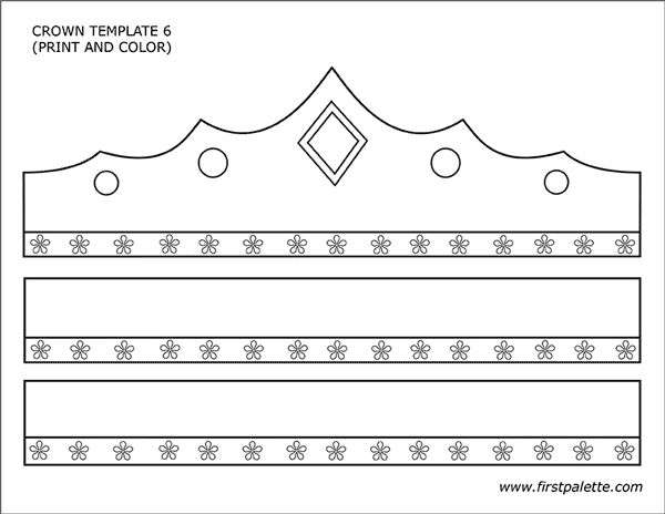 graphic relating to Printable Princess Crown titled Prince and Princess Crown Templates Cost-free Printable