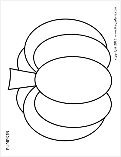 Blank Pumpkin coloring page | Free Printable Coloring Pages | 518x400