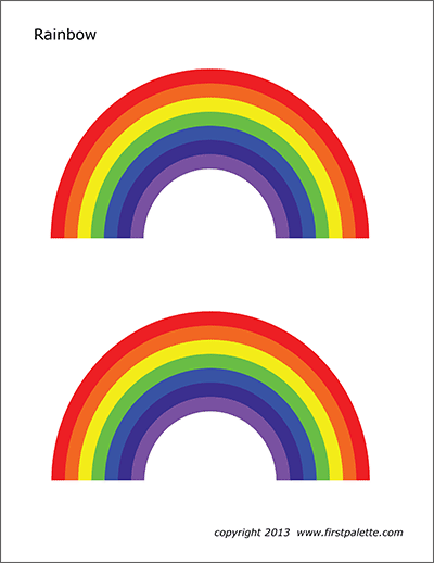 graphic relating to Printable Rainbow named Rainbow Cost-free Printable Templates Coloring Webpages