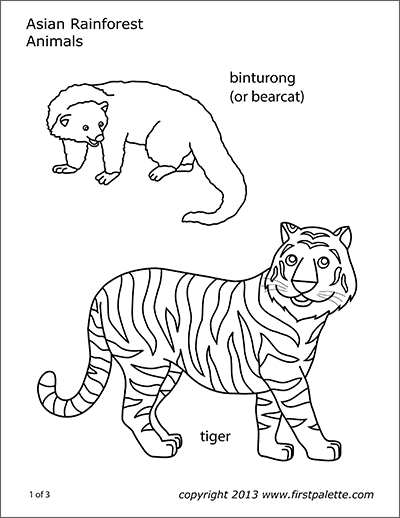 Animal Printables Free Printable Templates Coloring