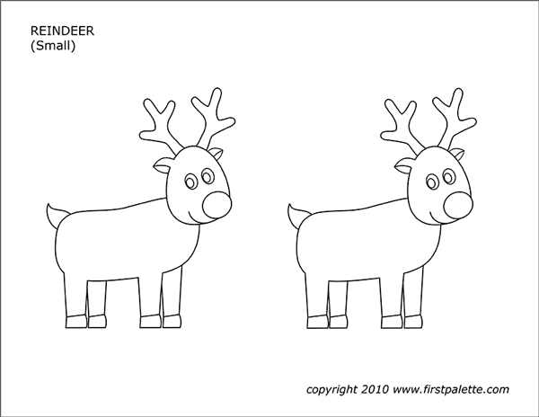 Printable Reindeer - Set 1