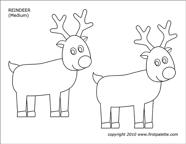 Printable Reindeer - Set 2