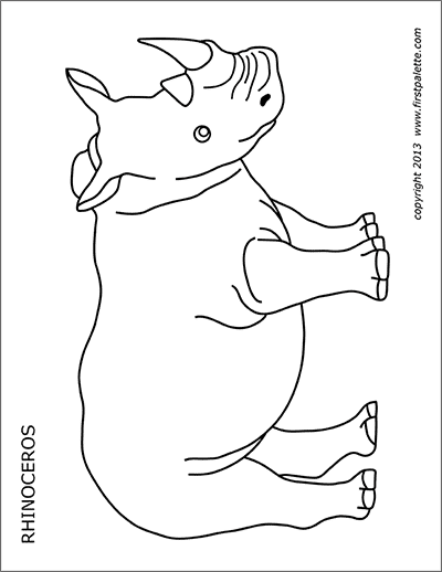 Printable Rhinoceros