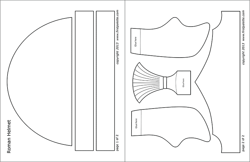 Printable Roman Imperial Helmet - Plain Template