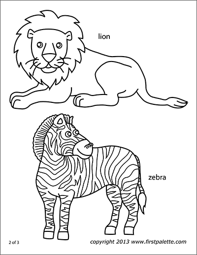 Printable Safari Animals