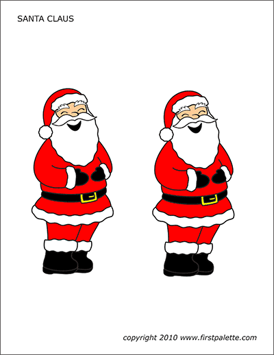 Printable Colored Santa Claus