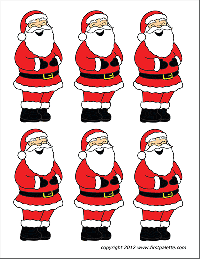 photo about Santa Claus Printable named Santa Claus Totally free Printable Templates Coloring Web pages