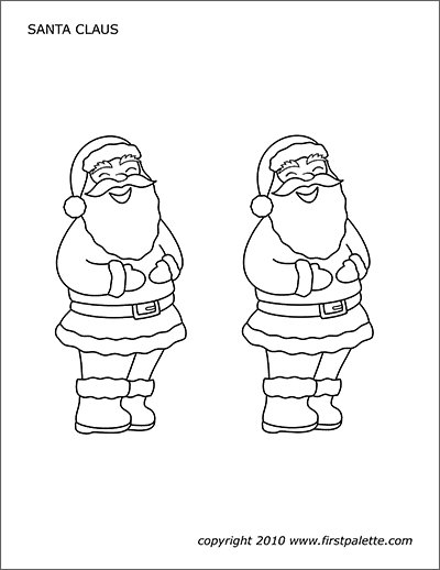 Printable Santa Claus Coloring Page