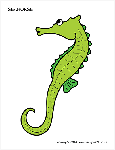 image relating to Seahorse Printable referred to as Seahorse Free of charge Printable Templates Coloring Web pages