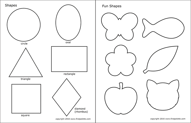 Printable Basic Shapes