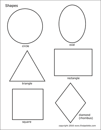 Printable Shapes Free Printable Templates Coloring